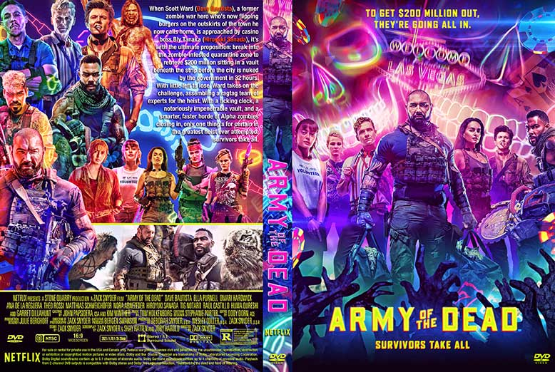 Army of the Dead 2021 DVD Cover