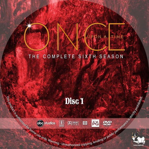 Once Upon a Time Season 6 Free Disc Labels