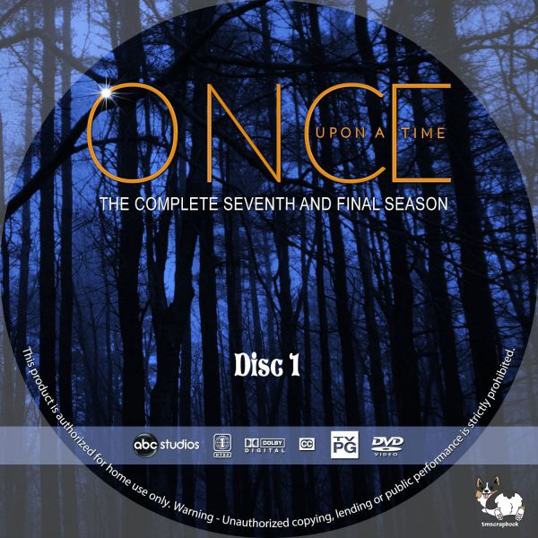 Once Upon a Time Season 7 Free Disc Labels