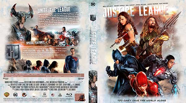 Justice League (2017) Bluray Cover