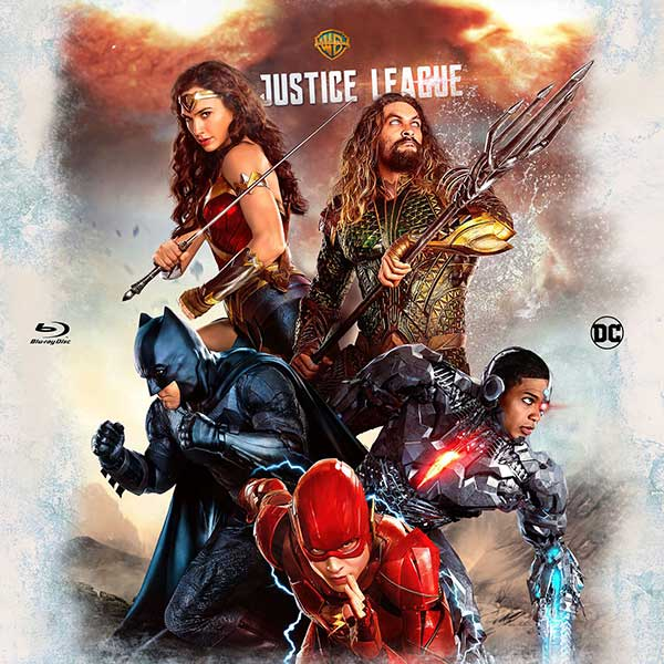 Justice League (2017) Bluray Label