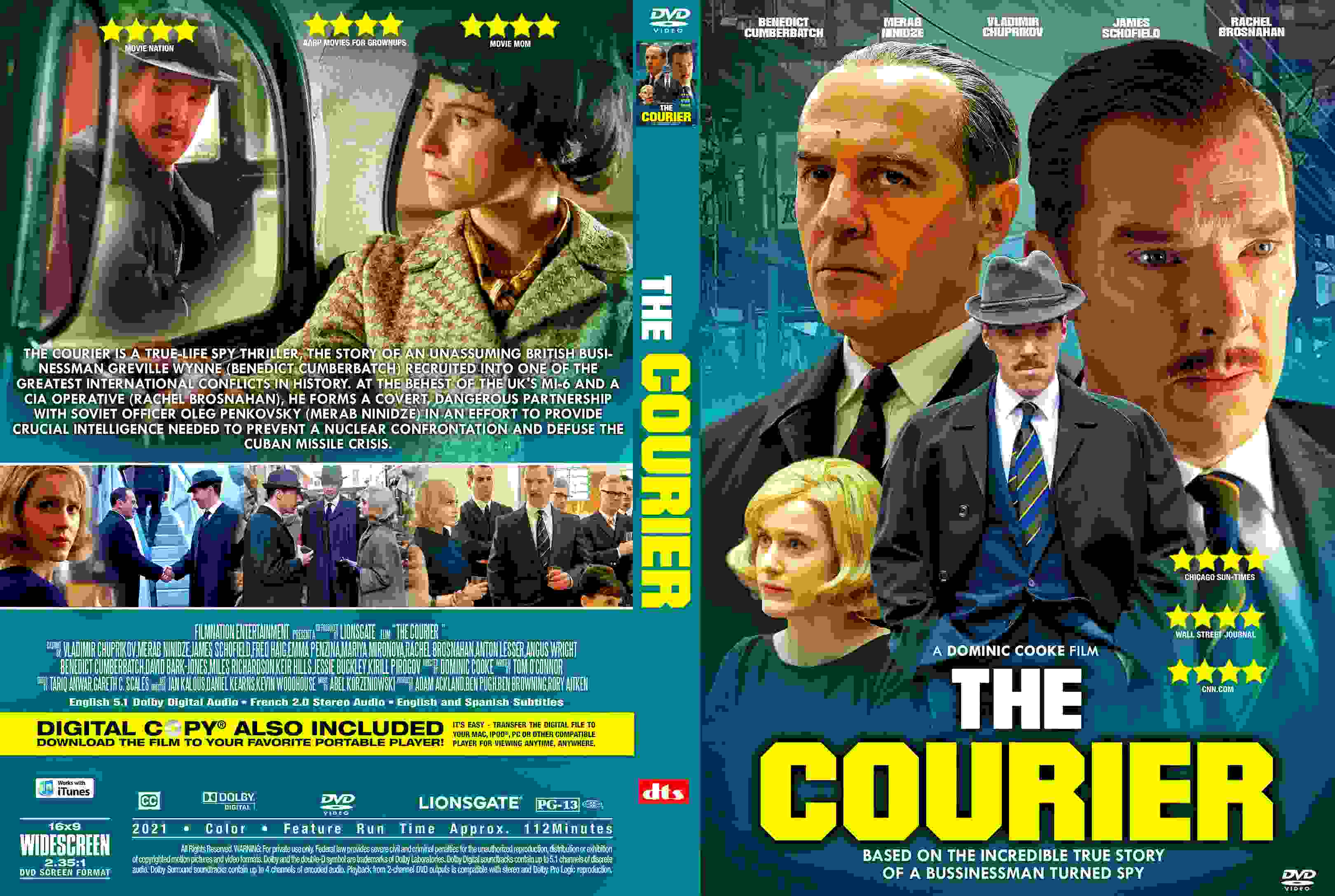 Download The Courier V2 2021 DVD Cover - Cover Addict