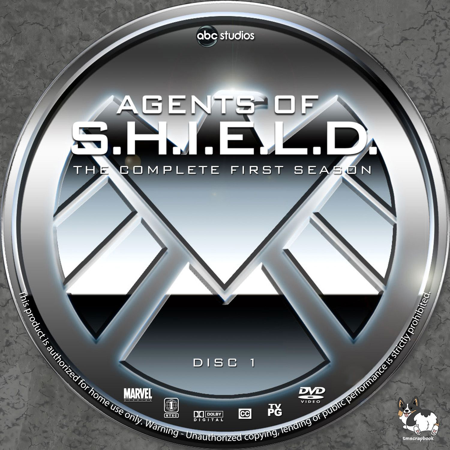 Agents Of Shield Season 1 DVD Labels