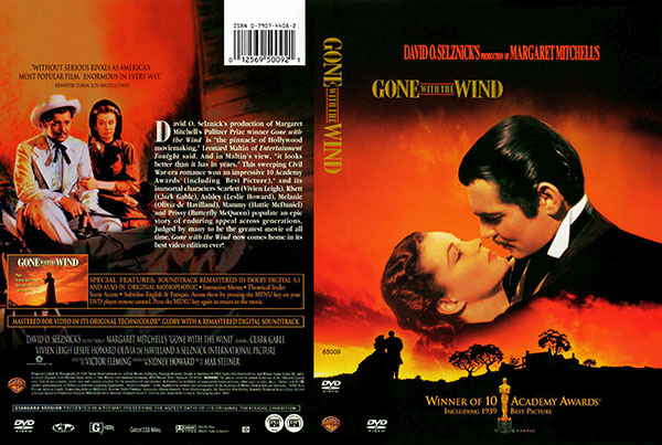Gone with the Wind 1939 DVD Cover