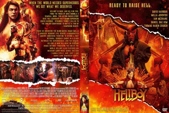 Hellboy 2019 DVD Cover