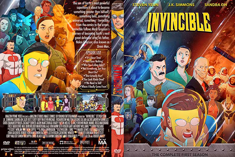 Invincible Season 1 DVD Cover