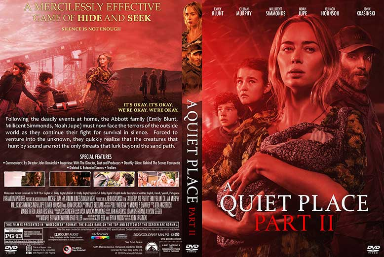 A Quiet Place Part II 2021 DVD Cover