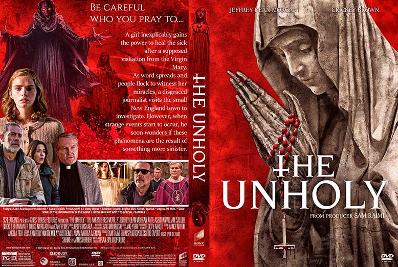 The Unholy 2021 DVD Cover.