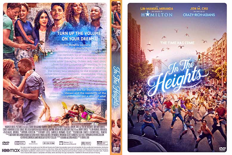 In the Heights 2021 DVD Cover