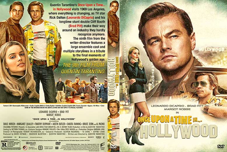 Once Upon a Time in Hollywood 2019 DVD Cover