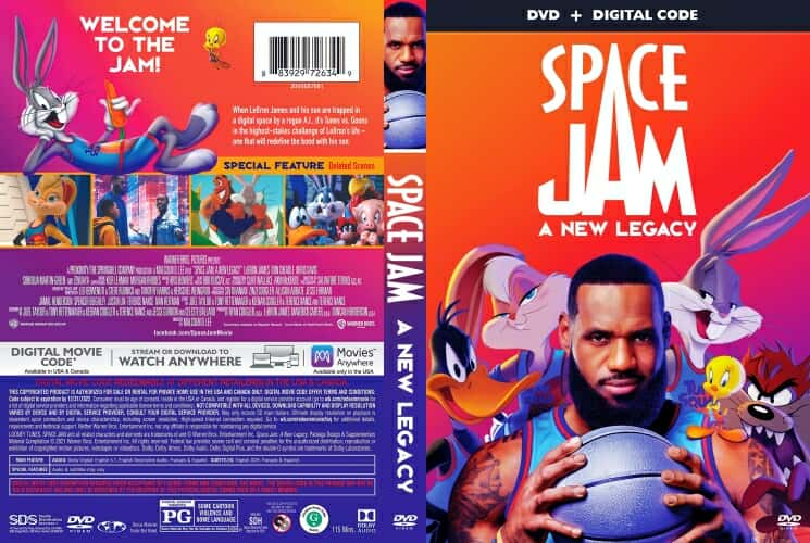 Space Jam A New Legacy 2021 DVD Cover scan