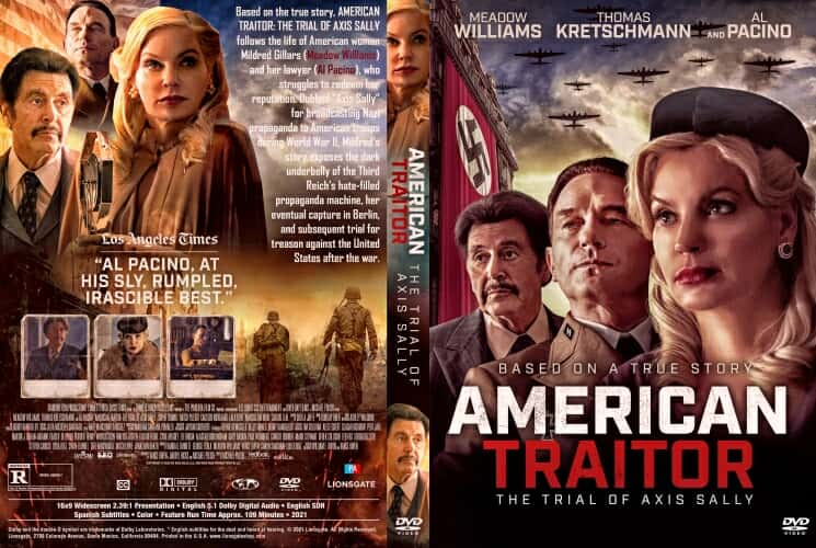 American Traitor The Trial of Axis Sally 2021 DVD Cover