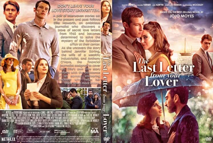 The Last Letter From Your Lover 2021 DVD Cover