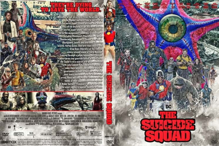 The Suicide Squad 2021 DVD Cover.