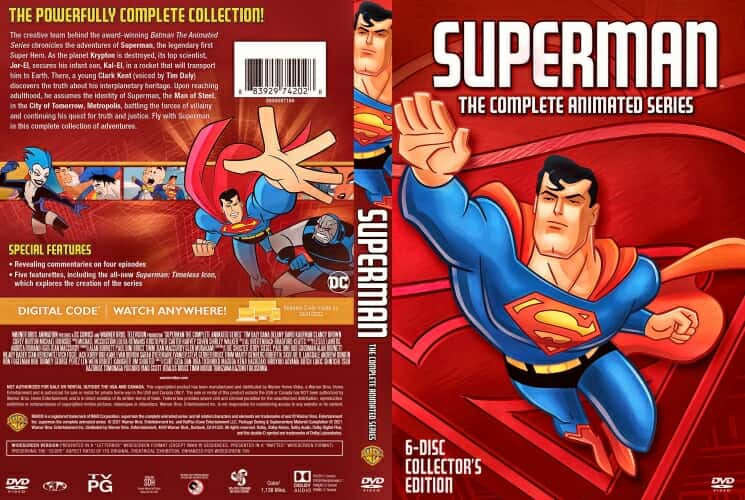 Superman The Complete Animated Series 2021 DVD Cover