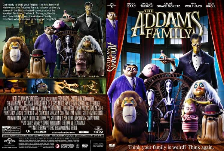 The Addams Family 2019 DVD Cover