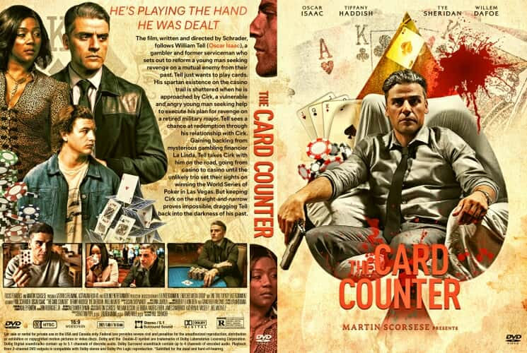 The Card Counter 2021 DVD Cover